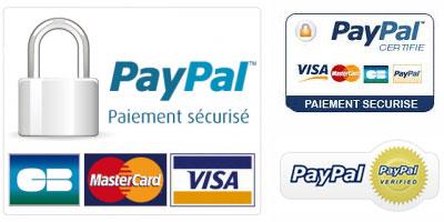 Carte de crédit ou Paypal